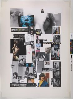 Collage poster by Richard Hamilton from original vinyl issue of The Beatles ('the White Album'), 1968 Collages, Collage Artists, The White Album, Original Beatles, The Beatles, Cultura Pop, Richard Hamilton Artist, James Rosenquist, Beatles Albums