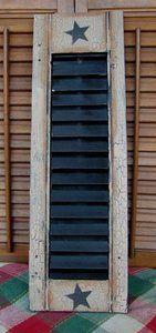 patriotic decor | ... -Primitive-Americana-Wood-Shutter-Americana-Crackle-Farm-House-Decor