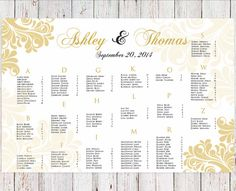 Wedding Seating Chart  RUSH SERVICE Vintage by HappyBlueCat