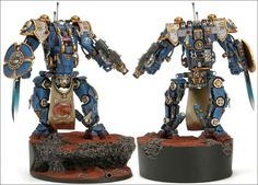 Behold the Imperial Knight. Used by noble houses sworn to the Adeptus Mechanicus, they're not as big as Titans, but they're useful all the same.