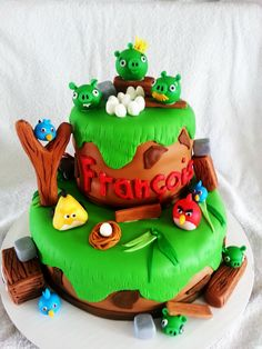 angry birds cake! Creation Loulou!