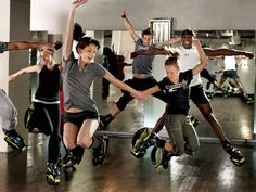 Although pushing a double stroller is about all the exercise I get, Kangoo Jump Classes look fun You wear sneakers that feel like tiny trampolines From Daily Candy - NYC http://www.dailycandy.com/new-york/flipbook/106569/Gyms-in-NYC#slide=9