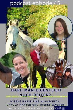 Pferde Podcast - In dieser Episode des Pferdegewieher Podcasts sprechen wir darüber, ob man eigentlich noch reiten darf und welche Bedingungen erfüllt sein müssen, um ein Pferd gesunderhaltend und mit Spaß für Reiter und Pferd zu reiten. Zu Gast sind Tine Hlauscheck, Carola Marten und Wiebke Hasse. #pferdegewieher #pferdegewieherpodcast #reiten #pferdepodcast Movies, Movie Posters, Horse Feed, Hate, Round Round, Film Poster, Films, Popcorn Posters, Film Books
