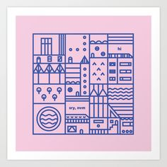 chat rooms, part 8 Art Print by Tierney Milne - $18.00