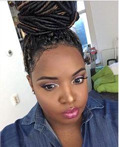Faux locks dark skin makeup dyvaplusmakeup braids