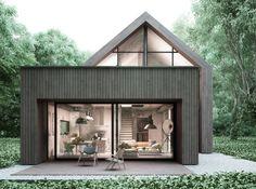 Projekty domów - House x06 : 모던스타일 주택 by Majchrzak Pracownia Projektowa