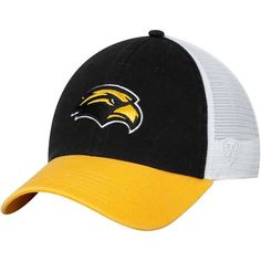 49b651817fc9b Southern Miss Golden Eagles Top of the World Backroad Trucker Adjustable Hat  - Black -  22.99