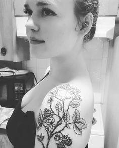 blackberry tattoo - thinking of my Papa