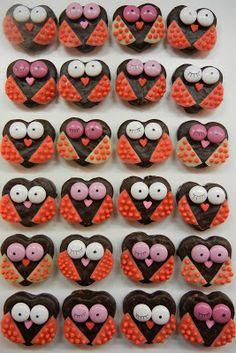Heart Shaped Valentine Owls