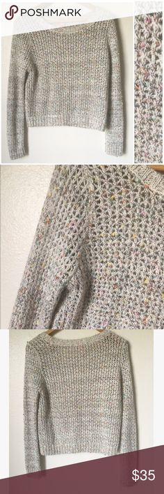 Charlotte Tarantola Knit Sweater Beautiful Charlotte Taranola knit sweater. Beautiful neutral with pops of color throughout. Slightly cropped look (yet not midriff showing) Like new condition. Rabbit hair blend. Brand is carried at Anthropologie and Nordstrom. Anthropologie Sweaters Crew & Scoop Necks