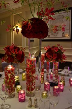 Creative flower arrangement in the lobby of the london marriott deep red and romantic at mandy bryant bryant dewey seasons hotel hampshire wedding decorationsdecor junglespirit Gallery