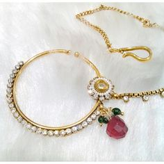 Buy latest collection of artificial, imitation, traditional & designer Jewellery Online in India. Shop for latest fashion Jewellery Designs at Craftsvilla. Nose Ring Jewelry, Indian Jewelry Earrings, Fancy Jewellery, Indian Wedding Jewelry, Trendy Jewelry, Jewelry Party, Jewelry Shop, Bridal Jewelry, Jewelry Design