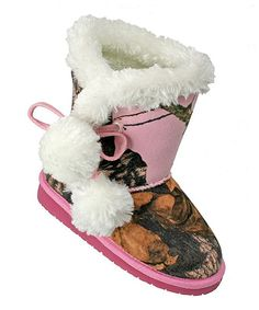 Take a look at the Pink Mossy Oak Camo Pom-Pom Boot on #zulily today!