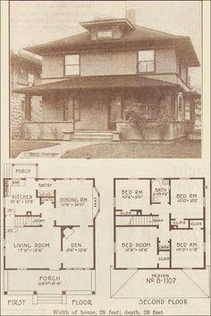 1915 Foursquare Classic - Hewitt-Lea-Funck Co. - Seattle - 1910s House Plans
