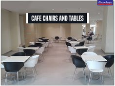 Simple and trendy, these #chairs and #tables add charm to the cafeteria.