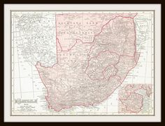 Antique Map - SOUTH AFRICA  1911 Map Page by KnickofTime Old Maps, Antique Maps, African Life, Cartography, Map Art, Fantasy World, Preserve, Flags, South Africa