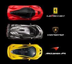 LaFerrari, Veneno, McLaren