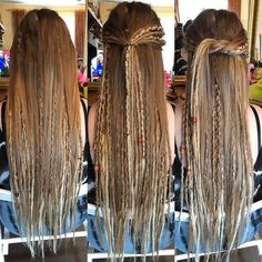 [New] The 10 Best Braid Ideas Today (with Pictures) - Mixed Blondes - Half head - 30 - All handmade and custom Swipe for front and before See my bio f. Box Braids Hairstyles, Dreadlock Hairstyles, Boho Hairstyles, One Dreadlock In Hair, Afro Hair, Half Dreads, Partial Dreads, Hippie Braids, Hippie Hair