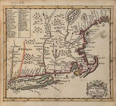 Map includes Massachusetts, Rhode Island, Connecticut, Southeastern New York, New Jersey, eastern Pennsylvania, Delaware, eastern Maryland, and eastern Virgina. It includes the location of a number of Native peoples in New England including the Pequot Indians.