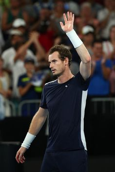 Day 1: Andy Murray of Great Britain thanks the crowd after losing his first round match against Roberto Bautista Agut of Spain during day one of the 2019 Australian Open at Melbourne Park on January 14, 2019 in Melbourne, Australia.