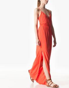 Wrapover maxi dress