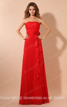 Empire Waist #Bridesmaid #Dress With Flowers
