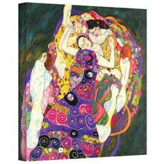 Gustav Klimt ''Virgins'' Canvas Art