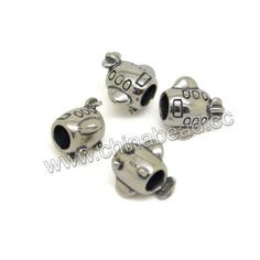Metal beads, 925 sterling silver European bead in antique silver plating, Airplane, Approx 12x9x10.6mm, Hole: Approx 4.6mm, 10 pieces per bag, Sold by bags
