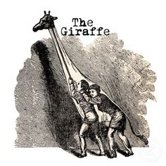 Vintage Giraffe Costume Puppet