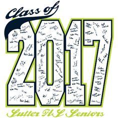 Class of 2017 T-Shirt Design - Class Signatures (desn-547d7)
