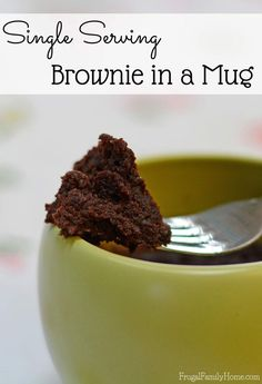 Easy to make brownie mug recipe. This dessert recipe is so good and portioned controlled too. Great for getting a quick chocolate fix. I also have instruction for making it into a brownie mug mix too.