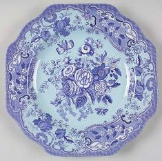 "9"" square fancy plate (FP9M18) in Blue Room Garden Collection (mixed colors) Web ID: 66030541"