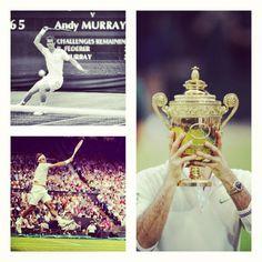 Federer #Wimbledon #tennis @JugamosTenis Wimbledon se termino y el campeón es el increíble e histórico nuevo numero 1 del mundo Roger Federer.