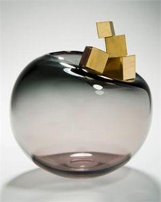 Gold & glass by Hanne enemark@vessel