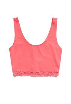 Subtle Lace Crop Top | FOREVER21 - 2000089521
