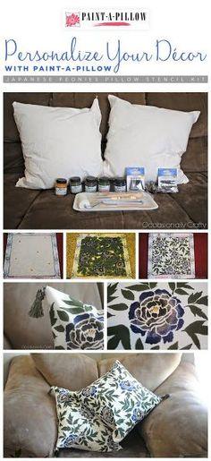 painting pillow stencil personalized decor, chalk paint, home decor, painting