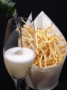 Triple Cooked Chips, Moet Chandon, Made In Heaven, Match Making, Sparkling Wine, French Fries, Wine Making, Good Food, Fun Food