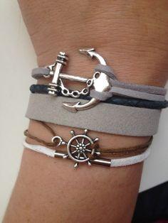 Gouvernail d'ancrage Bracelet 120 amitié foi par enjoywelrydesign
