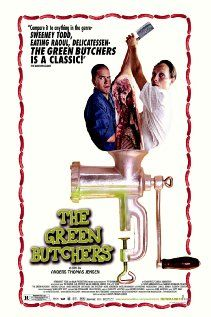 The Green Butchers  (2003) (De grønne slagtere)  (original title)  - Svend and Bjarne work for a butcher in a small Danish town. Fed up with their boss' arrogance, they decide to start their own butcher shop. After dismal beginnings, an unfortunate accident happens which coincides with a large order of meat. One hasty decision leads to another and soon the business thrives. In the meantime, Bjarne has to deal with his twin brother who has been in coma for years following a gruesome car…