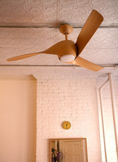 """It got real hot here on the East Coast for a few days and now it's cool again, but it still got me thinking about ceiling fans. I've seen two in particular in the past few months that I really like. One is a metal fan that is really pared down and simple. Made by Westinghouse and sold mainly for industrial spaces, it's also cheap. The other is a more """"designy"""" fan, made by Minka Aire. The Artemis has a unique bent blade design, and the really nice, warm appearance of bent wood. I recommend…"""