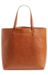 Madewell 'The Transport' Leather Tote. A simple leather tote is the perfect bag for a gal on the go. #createstyle