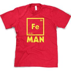 Science Periodic Table Tee Funny Fe Iron Tshirt / CrazyDogTshirts found on OpenSky