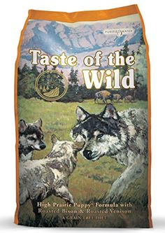 Taste of the Wild High Prairie Puppy Formula with Bison and Roasted Venison Dry Dog Food, 30-Pound Bag - Modern science proves that today's dog shares the DNA of the wolf. Years of domestication and excellent care have turned your puppy from a short-lived potential foe to a long-lived best friend. Although his DNA remains the same and his tastes demand something of the wild, feed your puppy with the...