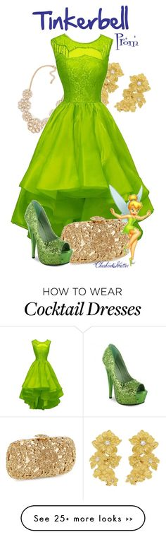 """Tinkerbell Prom"" by cheshirehatter on Polyvore"