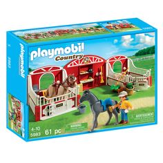 Playmobil country pony stable - Idea for Meg. Playmobil Country, Playmobil Sets, Lego Animals, Toys R Us Canada, Best Kids Toys, Horse Stables, Sea Fishing, Toy Store, Toddler Toys