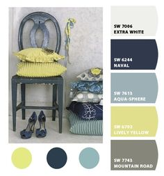 Color combo - could be cute for a guest room or kids room