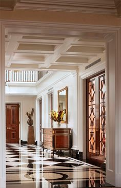 John B. Murray Architect: Recent Work. Beautiful floor, ceiling and entry.