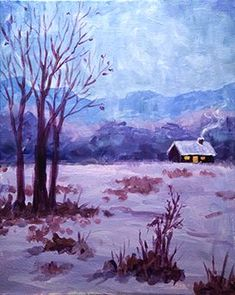 Hey! Check out Cabin in Winter at Park Grill and Spirits - Paint Nite