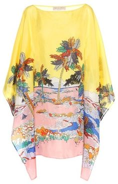 299ffd2575d9 Emilio Pucci Beach Printed silk cover up