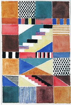 Gunta Stölzl, Bauhaus genius Design for a carpet 1928 30x23.5 cm  Victoria & Albert Museum, London